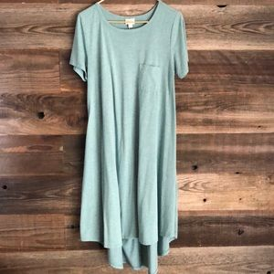 soft green lularoe Carly dress